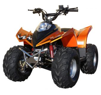 "Viarelli ATV 90cc Orange-Metallic 7"" Hjul"